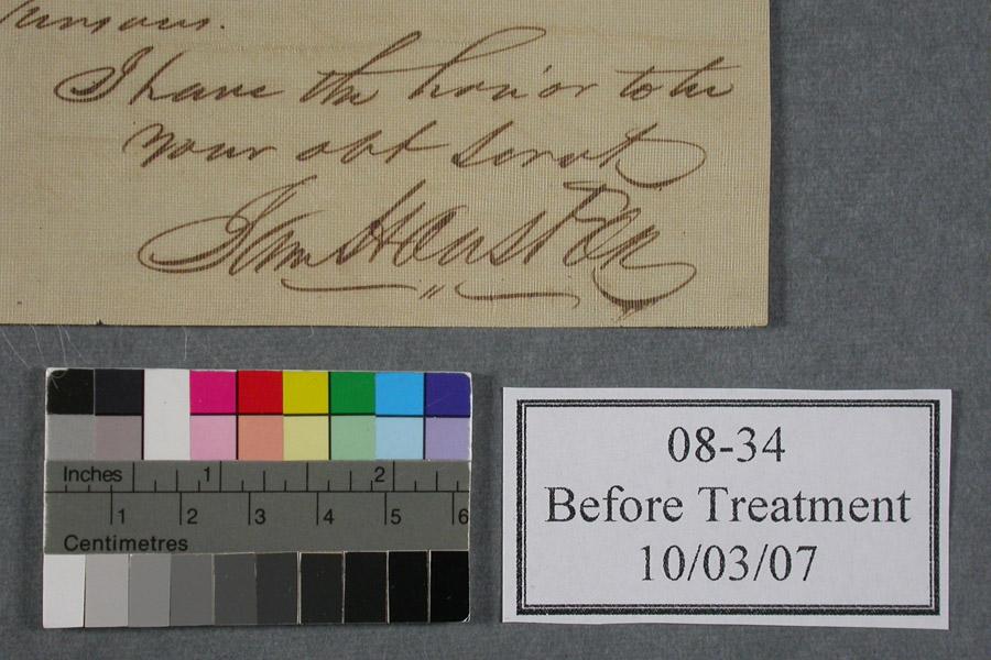 Treatment of Sam Houston Letter