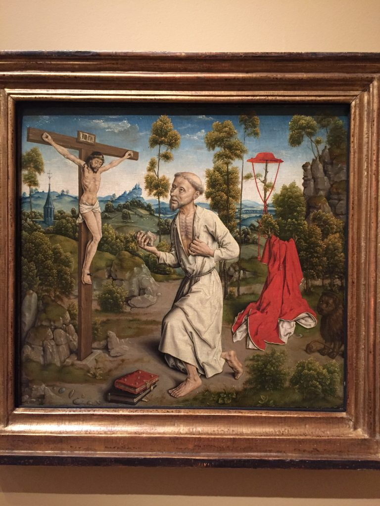 The Penitence of St. Jerome by Albrecth Bouts. 1520. In the collection of the Norton Simon Museum. Photographed November 2016.