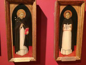 Saint Dominic and Saint Thomas Aquinas, ca. 1480, painted by (Followers of) Sano di Pietro