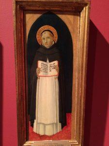 Saint Thomas of Aquinas, ca. 1480, painted by (Followers of) Sano di Pietro